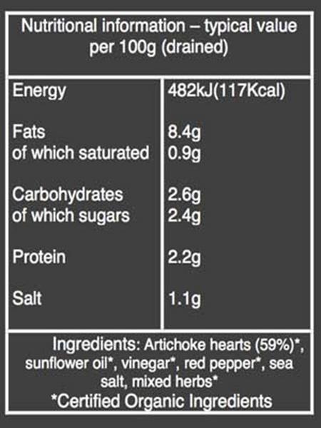 Artichoke Hearts in Herb Marinade ORGANIC image 2