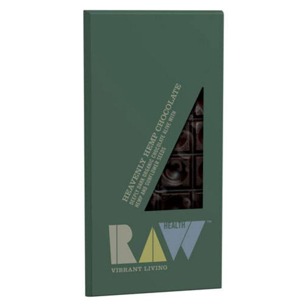 Heavenly Hemp Raw Chocolate 60% Cocoa Vegan, ORGANIC