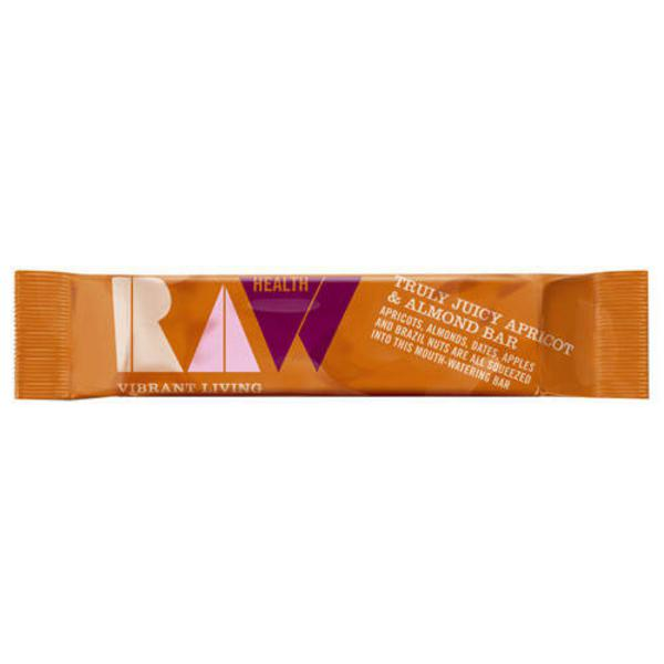 Truly Juicy Apricot & Almond Fruit Bar Raw ORGANIC