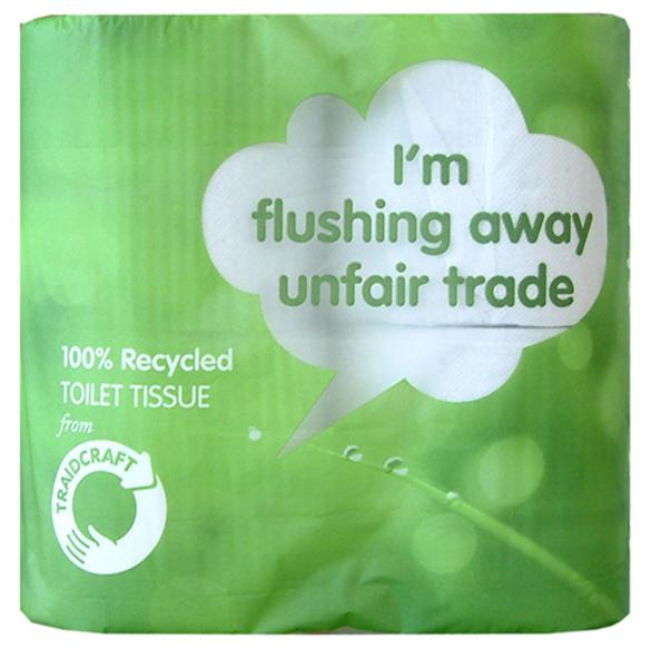 Traidcraft Toilet Rolls Recycled 4pack