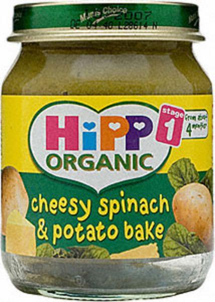 Cheesy Spinach & Potato Bake no added salt, no sugar added, ORGANIC