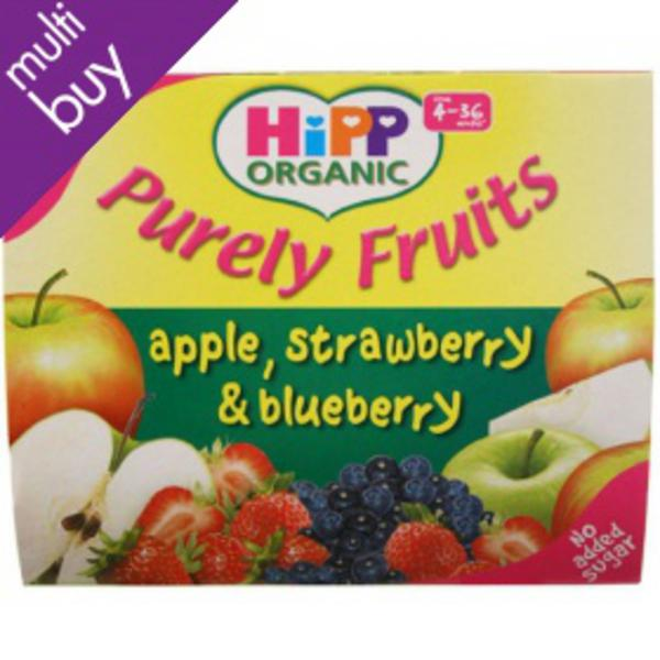 Purely Fruits Baby Food Apple,Strawberry & Blueberry Gluten Free, Vegan, ORGANIC