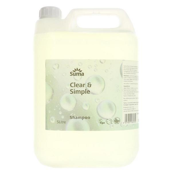 Clear And Simple Shampoo In 5l From Suma