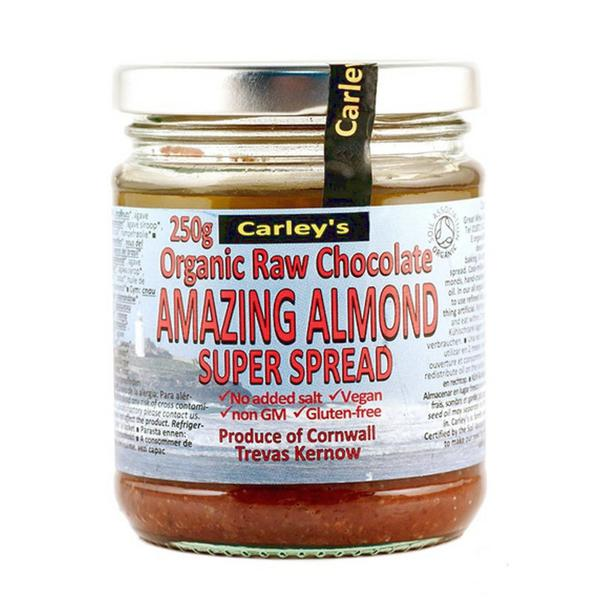 Raw Chocolate & Almond Spread no added salt, no added sugar, ORGANIC