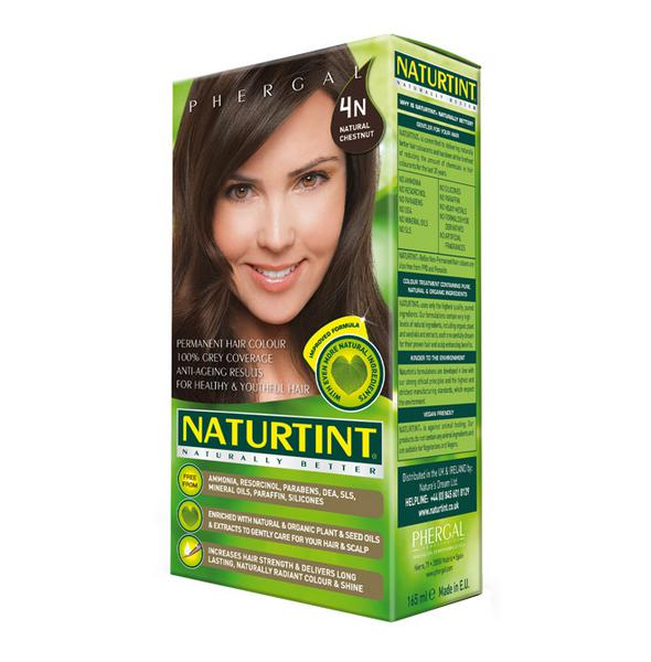 Permanent Hair Colourant Natural Chestnut 4N Vegan