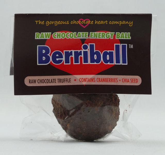 Berriball Raw Choc Energy Balls Vegan, wheat free