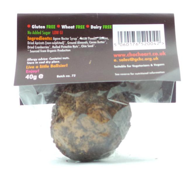 Berriball Raw Choc Energy Balls Vegan, wheat free image 2