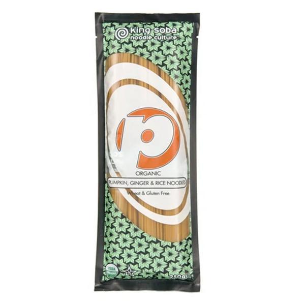 Pumpkin & Ginger Brown Rice Noodles Gluten Free, wheat free, ORGANIC