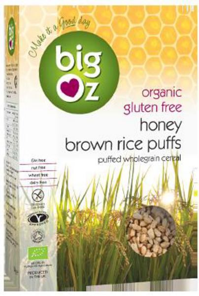 Honey Brown Rice Puffs Gluten Free, ORGANIC
