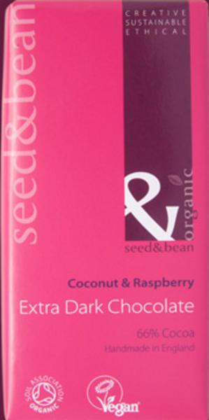 Raspberry & Coconut Dark Chocolate Vegan, ORGANIC