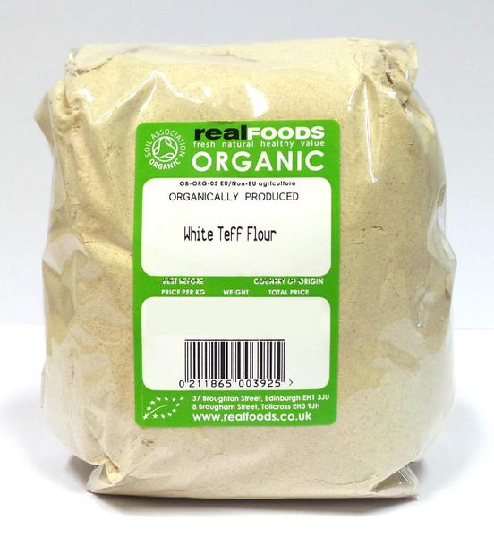 Organic White Teff Flour from Real Foods Buy Bulk