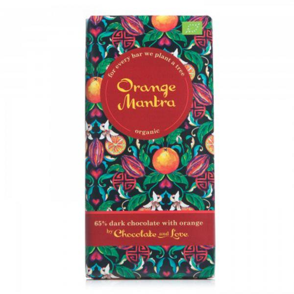 Orange Mantra Dark Chocolate Gluten Free, FairTrade, ORGANIC