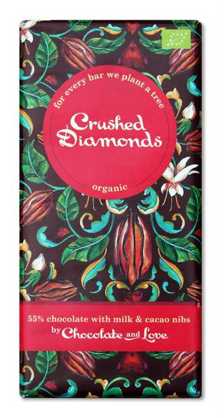 Creamy Dark Chocolate 55% & Cacao Nibs FairTrade, ORGANIC