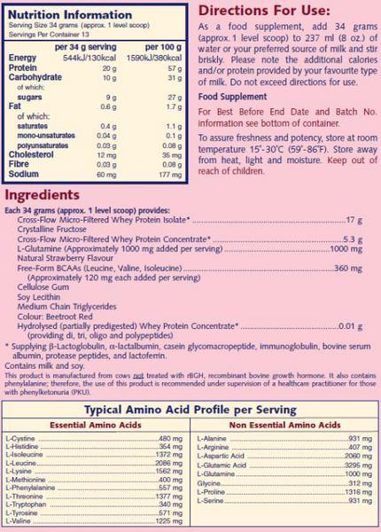 Strawberry Protein Powder Whey to go Strawberry Protein