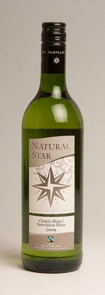 White Wine Natural Star Chenin Blanc Sauvignon Blanc South Africa Vegan, FairTrade, ORGANIC