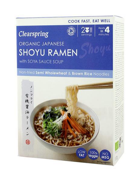 Soy Sauce Brown Rice Ramen Noodles GMO free, ORGANIC