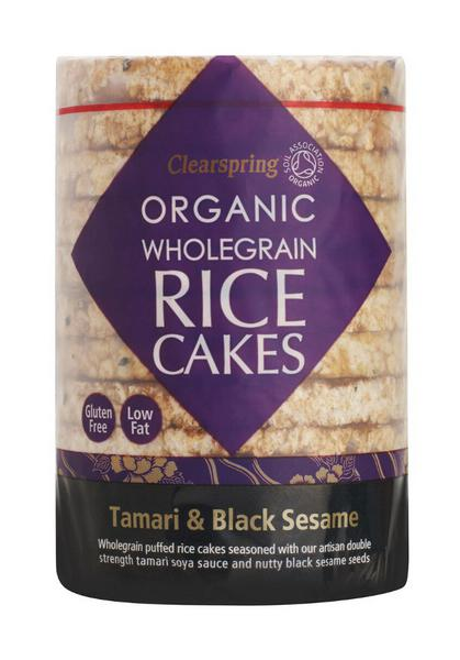 Tamari & Black Sesame Rice Cakes Gluten Free, no added sugar, Vegan, wheat free, ORGANIC
