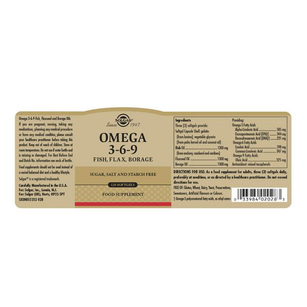 Omega 3-6-9 Supplement Fish,Flax & Borage  image 2