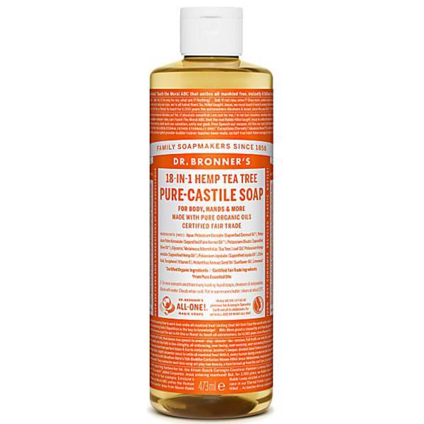 Tea Tree Castile Liquid Soap Vegan, FairTrade, ORGANIC