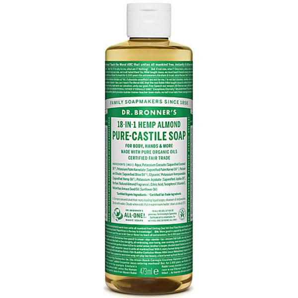 Almond Castile Liquid Soap dairy free, Vegan, FairTrade, ORGANIC