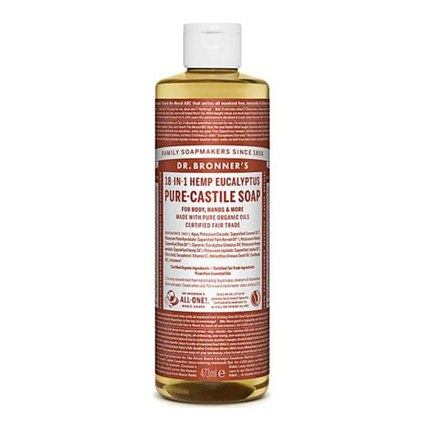 Eucalyptus Castile Liquid Soap Vegan, FairTrade, ORGANIC