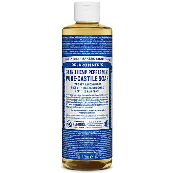Peppermint Castile Liquid Soap Vegan, FairTrade, ORGANIC