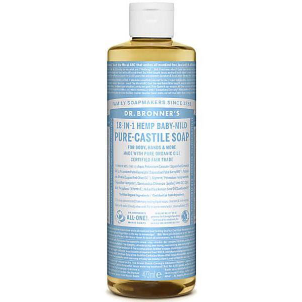 Baby Mild Castile Liquid Soap dairy free, Vegan, FairTrade, ORGANIC