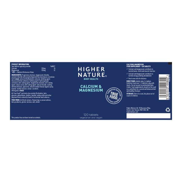 Calcium & Magnesium Supplement True Food  image 2