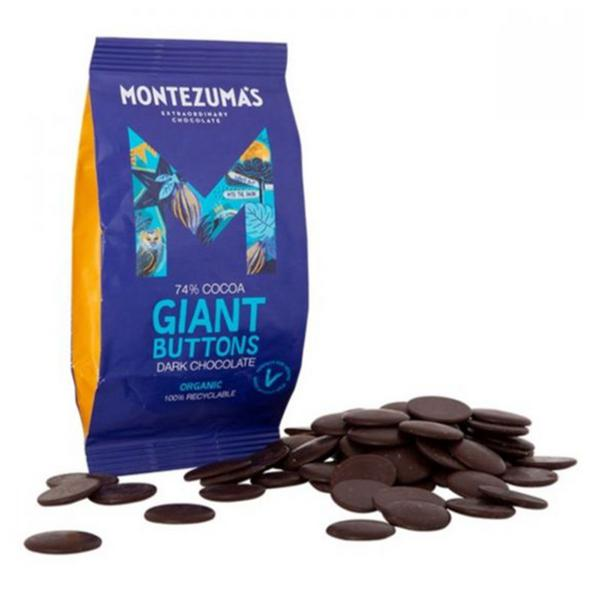 Giant Dark Chocolate Buttons , Vegan, ORGANIC