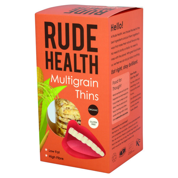 Multigrain Thins Gluten Free, FairTrade, ORGANIC