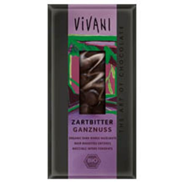 Dark Chocolate with Hazelnuts ORGANIC