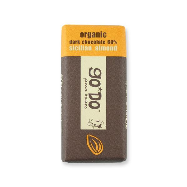 Dark Chocolate 60% with Almond Vegan, ORGANIC