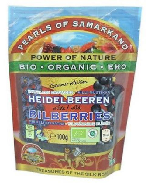 Wild Blueberries Bilberry no sugar added, ORGANIC