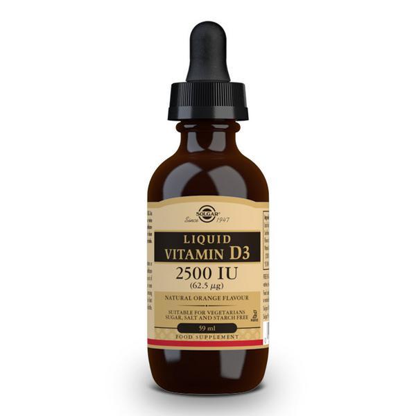 Liquid Vitamin D 3 2500iu Gluten Free, Vegan, wheat free