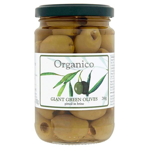 Pitted Green Olives in Brine ORGANIC