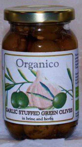 Garlic Stuffed Olives ORGANIC