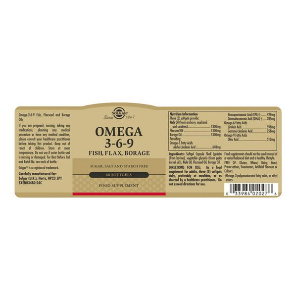 Omega 3-6-9 Supplement Fish,Flax & Borage  image 2