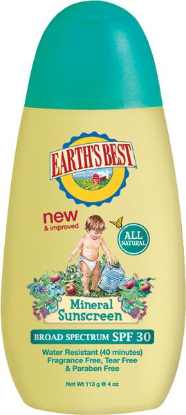 Earth's Best Baby Mineral Sunscreen SPF30+
