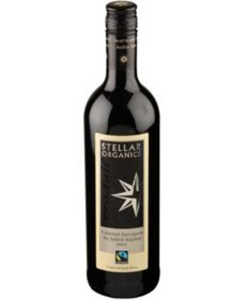 Red Wine Cabernet Sauvignon South Africa No Added Sulphur 13% Vegan, FairTrade, ORGANIC
