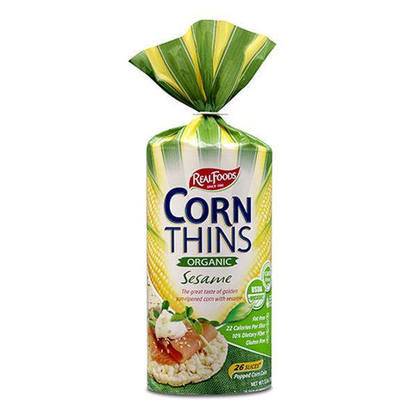 Sesame Corn Thins Gluten Free, GMO free, ORGANIC