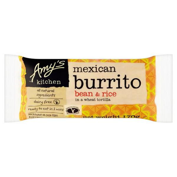 Bean & Rice Burrito Ready Meal dairy free, Vegan