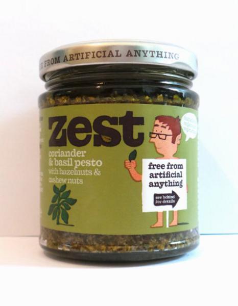 Coriander,Basil & Hazelnut Pesto Gluten Free, Vegan