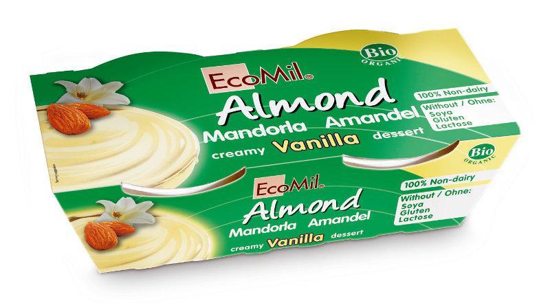 Almond & Vanilla Soya Free Dessert Vegan, ORGANIC