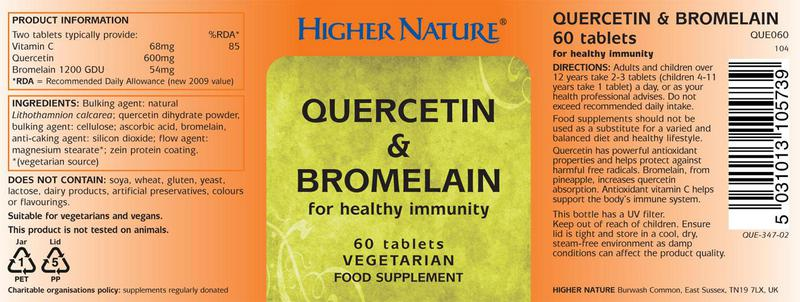 Quercetin & Bromelain Supplement Vegan image 2