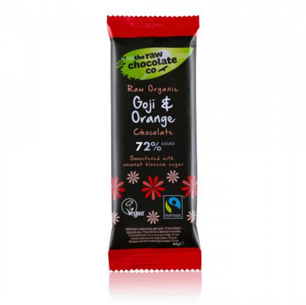 Goji Berry & Orange Raw Chocolate FairTrade, ORGANIC