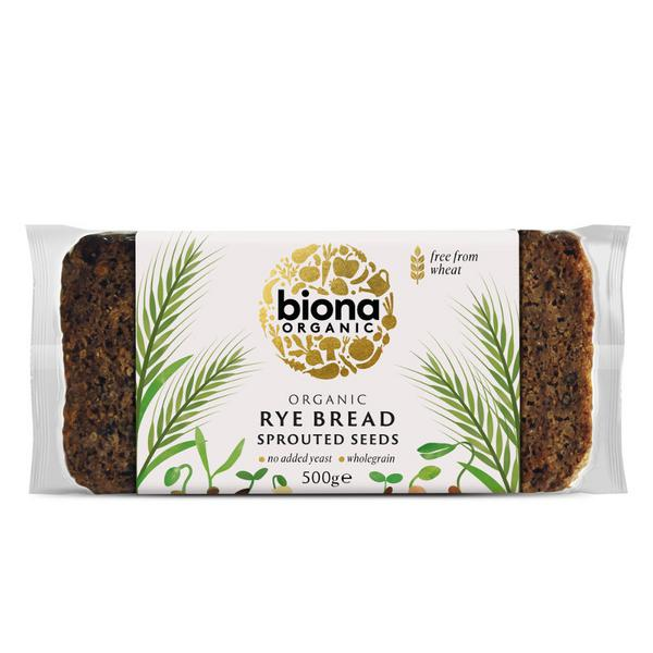 Rye Bread Sprouted Seed wheat free, ORGANIC