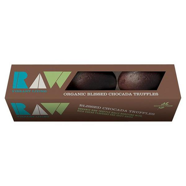 Raw Blissed Chocada,Cacao & Date Truffles No Gluten Containing Ingredients, ORGANIC