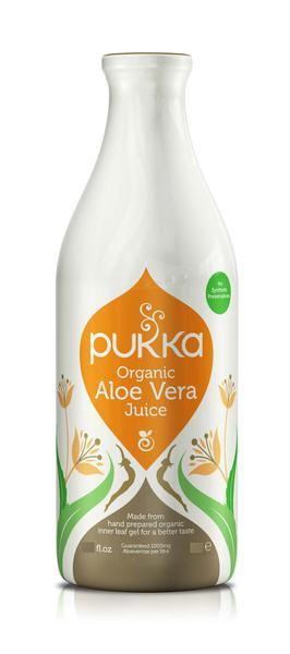 Raw organic aloe vera juice