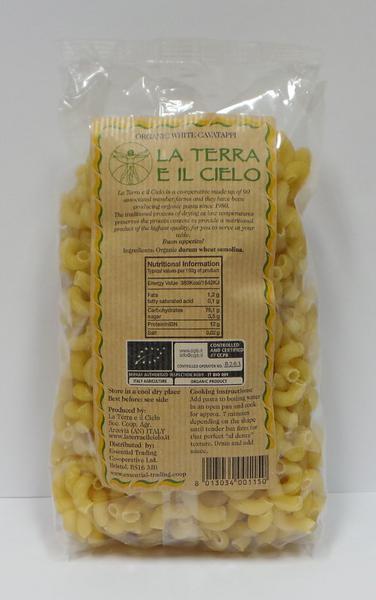 White Cavatappi Twists Pasta ORGANIC image 2