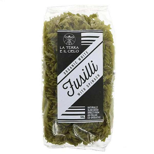 Fusilli Pasta With Spinach ORGANIC